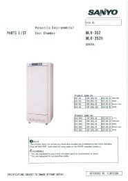 Part List MLR-352(H) - Panasonic Biomedical
