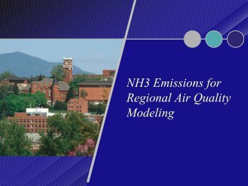 NH3 Emissions for Regional Air Quality Modeling