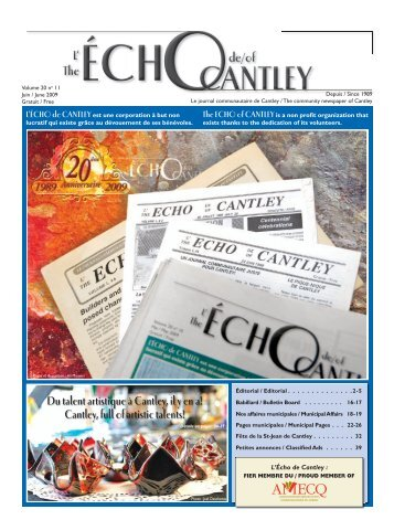 Juin 2009 (PDF, 21.5MB) - Echo of Cantley / Écho de Cantley