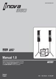 User Manual / Bedienungsanleitung i.NOVA 360 System