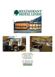 Menuvorschläge (PDF) - Hotel Linde