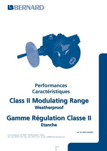 Class II Modulating Range Class II Modulating ... - Bernard Controls