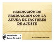 predicción de producción con la ayuda de factores de ajuste