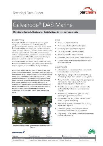 Galvanode® DAS Marine - Parchem