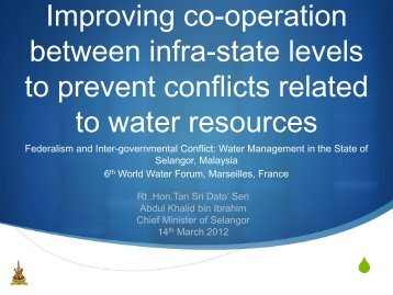 Water management in the State of Selangor, Malaysia - nrg4SD
