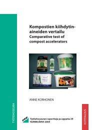 Kompostien kiihdytin- aineiden vertailu - TTS