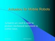 Actuators for Mobile Robots