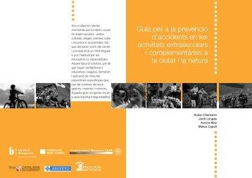 Guia per a la prevenció d'accidents en les activitats extraescolars i ...