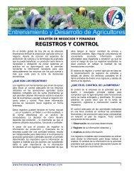 REGISTROS Y CONTROL - Cuenta del Milenio - Honduras