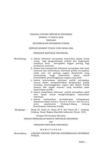UU No.14 Tahun 2008