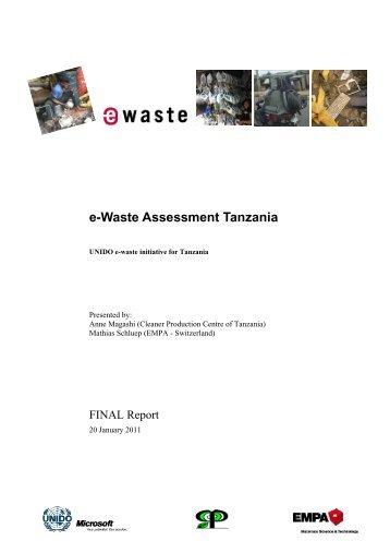 e-Waste Assessment Tanzania - e-Waste. This guide