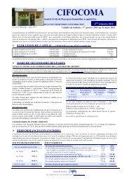 Bulletin trimestriel 4T 2012 CIFOCOMA - Primaliance