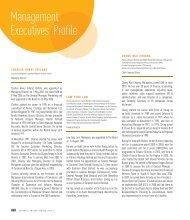 Management Executives' Profile - Gab