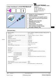 Profibus DP Class 2 - TR Electronic