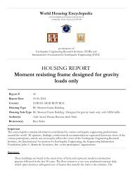 HOUSING REPORT Moment resisting frame designed for gravity ...