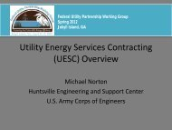 Utility Energy Services Contracting (UESC) Overview - EERE