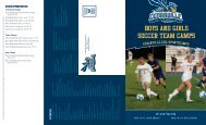 BOYS AND GIRLS SOCCER TEAM CAMPS - Cedarville University