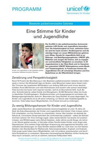 Eine Stimme für Kinder und Jugendliche (pdf) - younicef.de