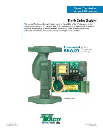 Priority Zoning Circulator - Taco-Hvac