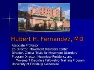 Hubert H. Fernandez, MD - Florida Society of Neurology