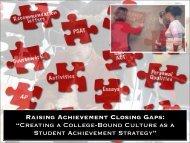 "Raising Achievement Closing Gaps: ""Creating a College-Bound ..."