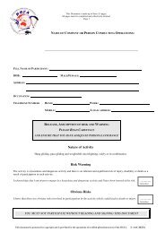 Indemnity Waiver - Hang Gliding Federation of Australia
