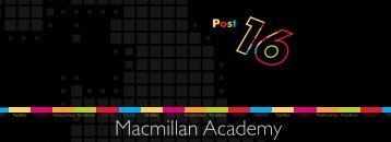 Post 16 Prospectus 2012/13 - Macmillan Academy