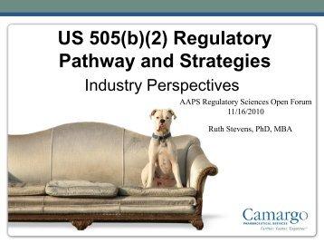 US 505(b)(2) Regulatory Pathway and Strategies