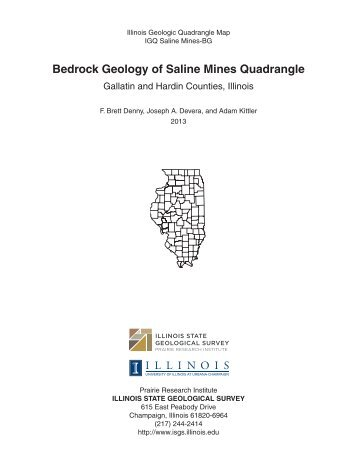 Bedrock Geology of Saline Mines Quadrangle - University of Illinois ...