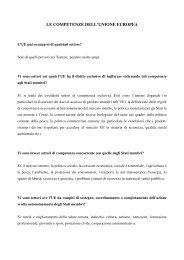 le competenze dell'unione europea - Consiglio regionale del ...