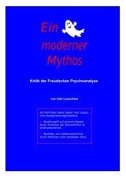 Ein moderner Mythos - Kritik der Freudschen ... - Udo Leuschner