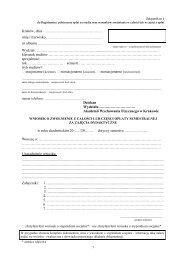 Wniosek o zwolnienie z całości lub części opłaty semestralnej za ...