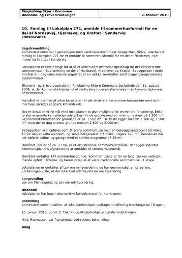 Forslag til Lokalplan 271, område til sommerhusformål for en del af ...