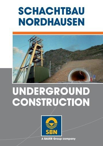 Brochure Underground Construction - SCHACHTBAU ...