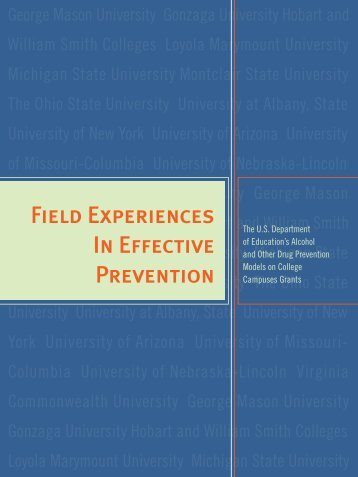 Field Experiences In Effective Prevention - ED Pubs