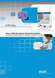 Klasse II Mikrobiologische Sicherheitswerkbänke - Esco
