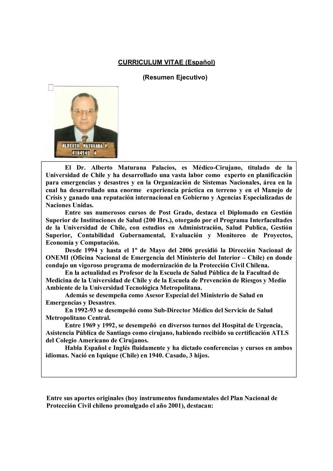 Vistoso Resumen Ejecutivo En Un Currículum Motivo - Ejemplo De ...
