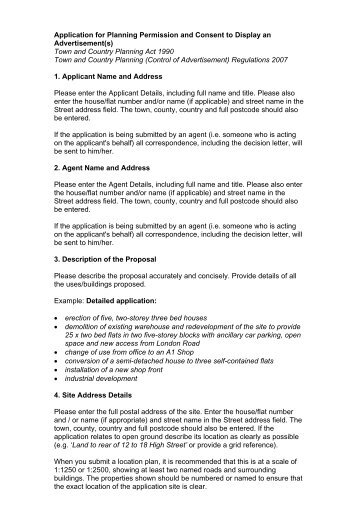 Application for Planning Permission and Consent to Display an ...