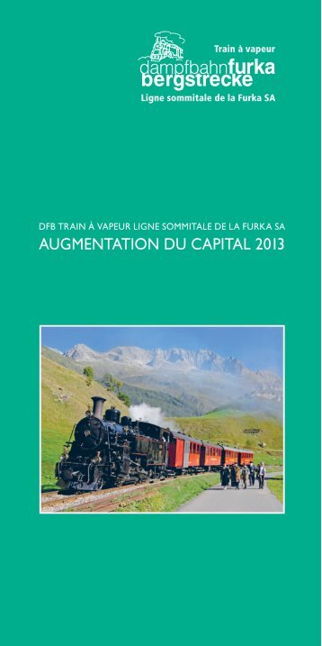 AUGMENTATION DU CAPITAL 2013 - dfb