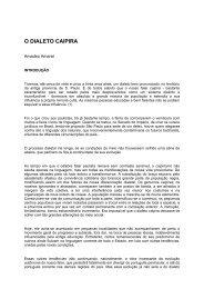 Dialeto Caipira - Departamento de Letras