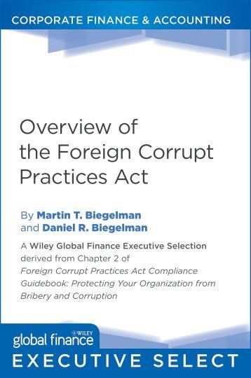 Overview of the Foreign Corrupt Practices Act - Alacra Store