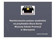 Monitorowanie postaw studentów na przykładzie Biura Karier Wy ...