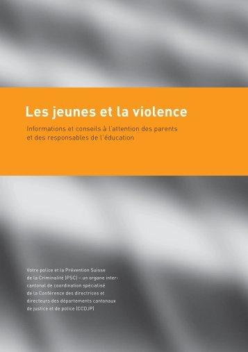 Les jeunes et la violence - Police cantonale Fribourg