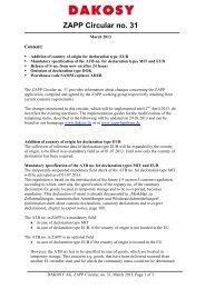 ZAPP Circular no. 31 - DAKOSY Datenkommunikationssystem AG