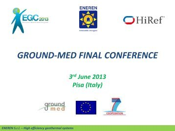 1) heat pump - GROUND-MED project