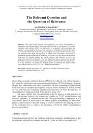 The Relevant Question and the Question of Relevance - Nectec