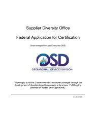 Federal Application for Certification - City of Springfield