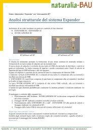 EXPANDER A SOLAIO - verifica statica completa - Naturalia Bau