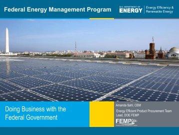 Federal Energy Management Program - GSA