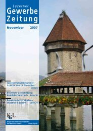 November 2007 - Gewerbeverband des Kantons Luzern
